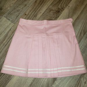 Urban Outfitters Pink & White Stripe Pleated Skirt